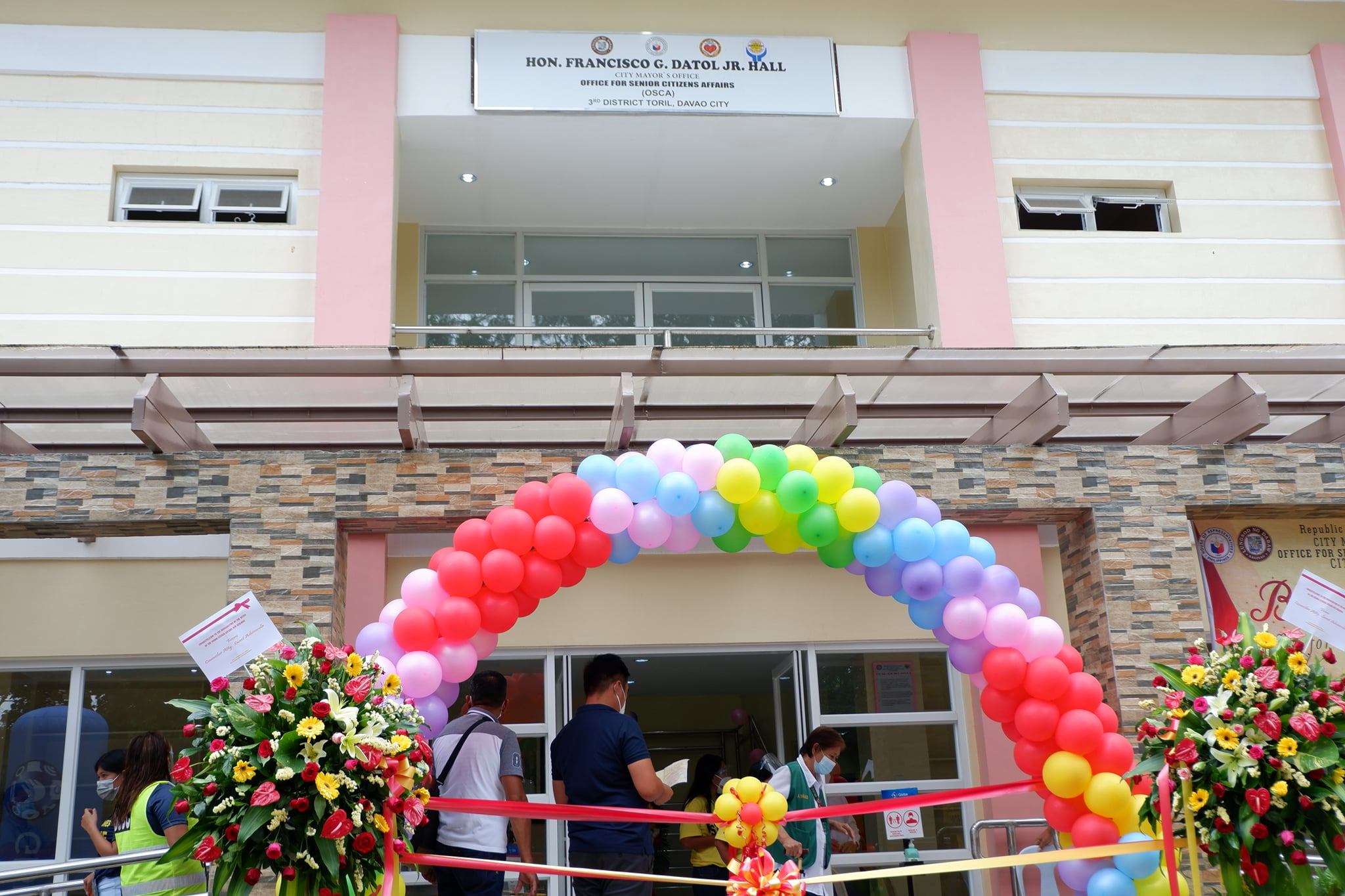 BLESSING & CUTTING OF RIBBON CEREMONY CONG. FRANCISCO G. DATOL JR. HALL